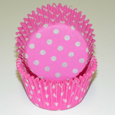 Pink Polka Dots Baking Cups