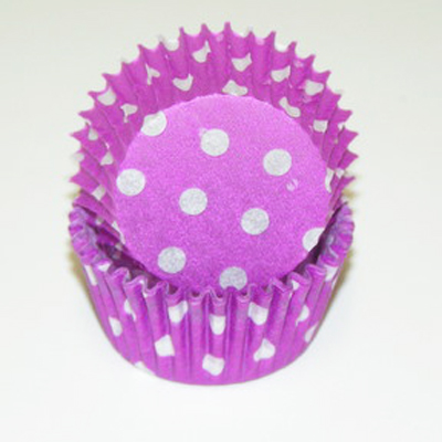 TBK Purple Polka Dots Baking Cups