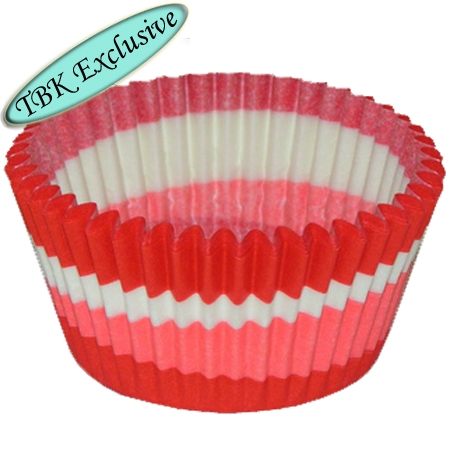 TBK Red Swirl Design Baking Cups