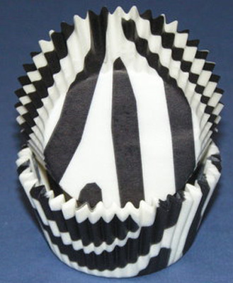 TBK Black Zebra Stripe Baking Cups