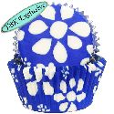 Blue Flower Print Baking Cups