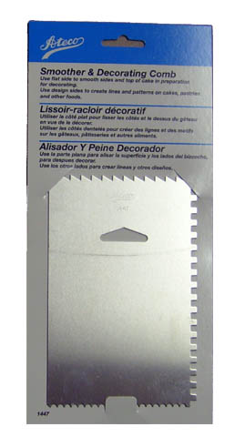 Ateco Metal Decorating Comb & Smoother by Ateco