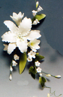 White Casablanca Lily Spray Gumpaste Flowers