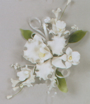 Tropical Catleya Orchid Spray Gumpaste Flowers