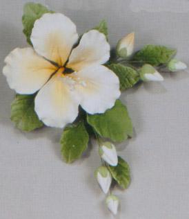 Single Open Hibiscus Spray Gumpaste Flowers