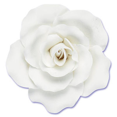 Large Gumpaste Tea Rose 2-Per Package