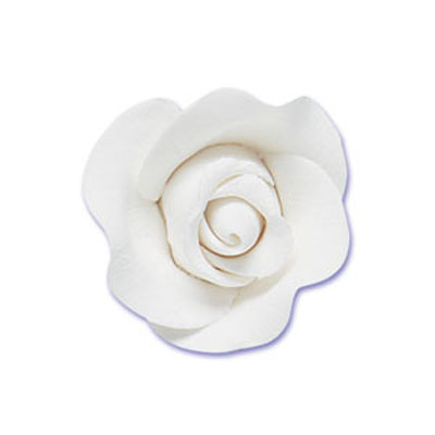 Small Gumpaste Tea Rose 2-Per Package