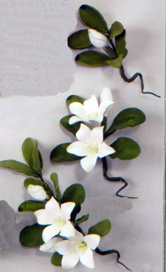 White Cambodia Spray Gumpaste Flowers 3-pk.