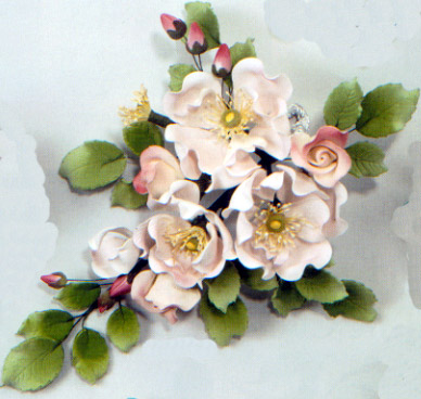 Dogrose Combo Spray Gumpaste Flower
