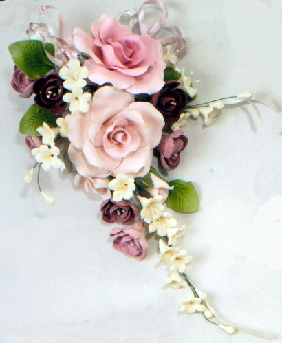 Cake Decorating Ready Made Flowers : Large Open Rose Combo Gumpaste Flower 2-215
