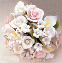 Tea Rose & Calla Lily Topper Gumpaste Flower