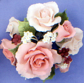 Lg. Classic Pink Garden Roses Topper