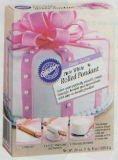 Ready-To-Use White Rolled Fondant 24 oz. Pkg.