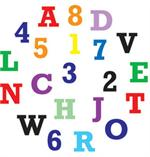 Alphabet & Numbers Upper Case Tappits Set