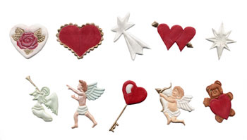 FMM Hearts and Cherubs Gumpaste Cutter Set