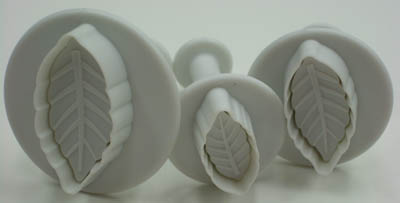 Leaf  Ejector Set - Sugar Paste Cutters