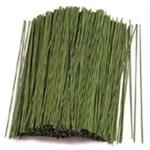 24 Gauge 6-inch Green Covered Floral Wire 50ct Pack