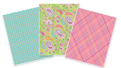 TBK Spring Colors Variety Pack Designer Prints Sheets 3-Pk.