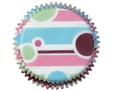 Wilton Bubble Stripes Mini Baking Cups