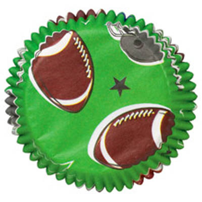 Wilton Football Mini Baking Cups