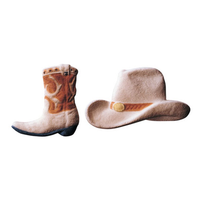 Lucks Cowboy Hat and Boot Sugar Decorations
