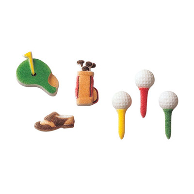 Golf Assortment Sugar Decorations