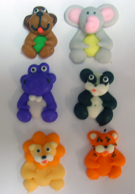 Lucks Mini Safari Animals Icing Sugar Decorations