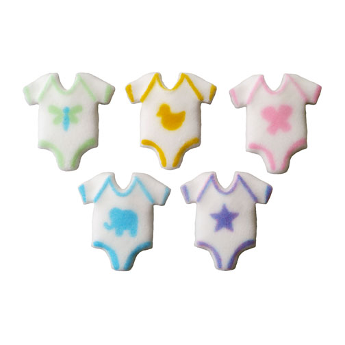 Baby One Piece Sugar Decorations