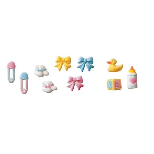 Lucks Deluxe Baby Assortment Sugar Decorations