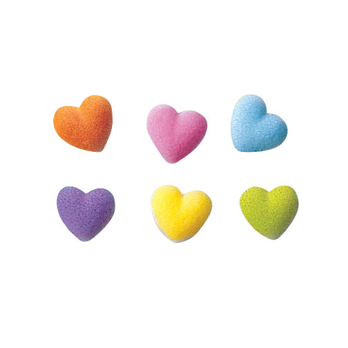 Rainbow Heart Charms Sugar Decorations