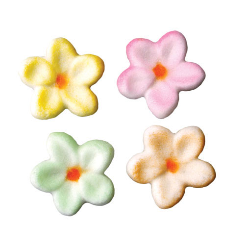 Small Assorted Color Flowers Sugar Decorations