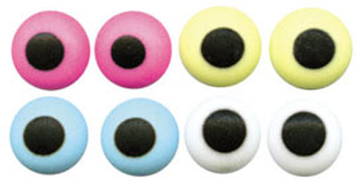 1/4 in. Candy Eyes Assorted Colors - 1000 Count Pack