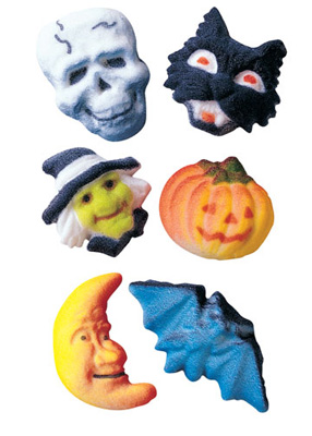 Deluxe Halloween Assortment Sugar Decorations
