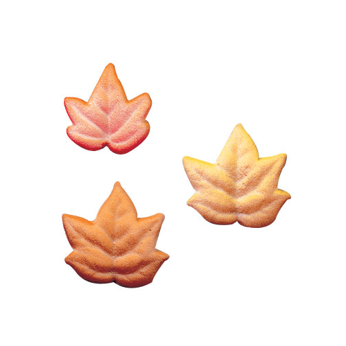 Fall Leaves Assortment Sugar Decorations