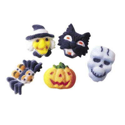 Halloween Fright Assortment Sugar Decorations