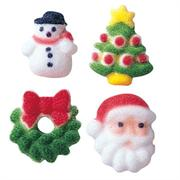 Christmas Assortment Charms Sugar Decorations