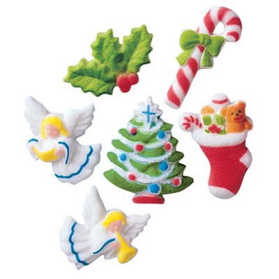 Deluxe Christmas Assortment Sugar Decorations
