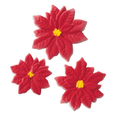 Lucks Poinsettia Sugar Decorations