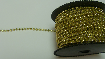 Wilton Gold 4mm Pearl Beading 72ft