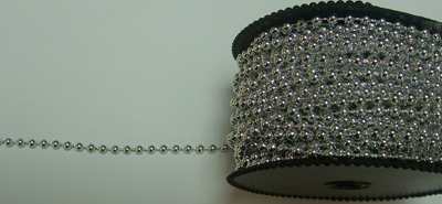 Wilton Silver 4mm Pearl Beading 72ft