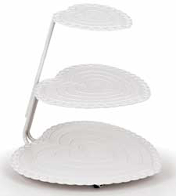 Heart Floating Tiers Cake Stand