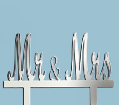 Mr & Mrs Wedding Cake Top