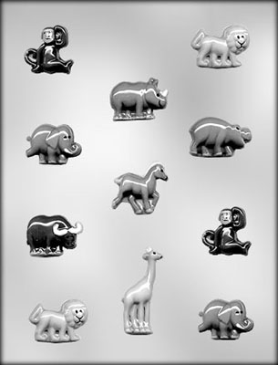 CK Products Zoo Animals Assortment Chocolate Candy Mold