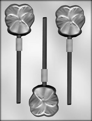 CK Products Pansy Chocolate Sucker Candy Mold