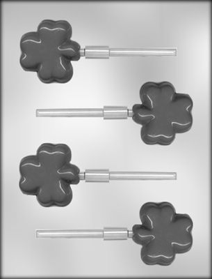 Shamrock Sucker Chocolate Mold
