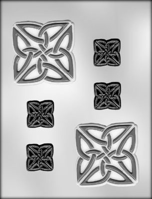 Square Celtic Knot Chocolate Mold