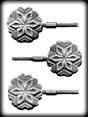 Snowflake Hard Candy Sucker Mold