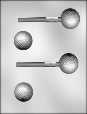 CK Products 3-D Golf Ball Sucker Mold