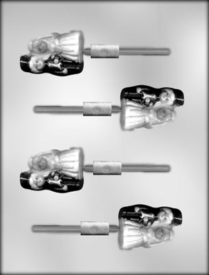 CK Products Bride & Groom Chocolate Sucker Candy Mold
