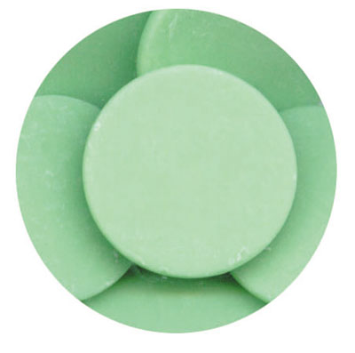 Merckens Light Green (vanilla) Candy Coating